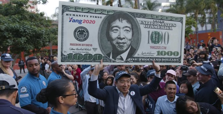 Andrew Yang Concept Of Universal Basic Income Reaches Common man Via AR Version